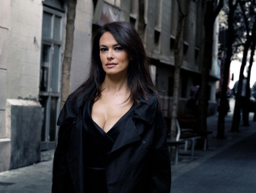 Italian actress Cucinotta in Barcelona