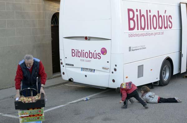 Imatge de l'exposició sobre el Bibliobús, que es pot veure a Isona